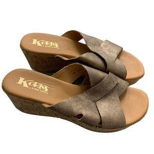 Korks by Kork-Ease leather sandals size 9 comfort